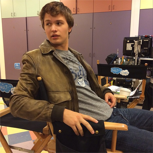 'The Fault In Our Stars' Set Photo: Ansel Elgort doesn't ...